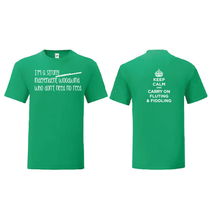 I'm a strong independent woodwind who don't need no reed: T-Shirt